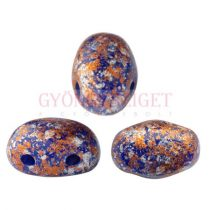 Samos® par Puca®gyöngy - Opaque Sapphire Tweedy - 5x7 mm