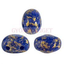 Samos® par Puca®gyöngy - Opaque Sapphire Splash - 5x7 mm
