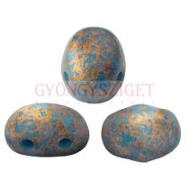 Samos® par Puca®gyöngy - Opaque Turquoise Blue Bronze - 5x7 mm
