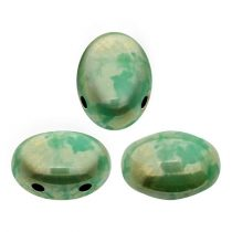 Samos® par Puca®gyöngy - Turquoise Green Picasso - 5x8 mm
