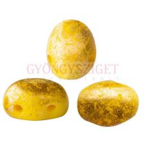 Samos® par Puca®gyöngy - Opaque Jonquil Splash - 5x7 mm