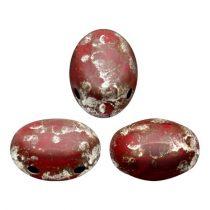 Samos® par Puca®gyöngy - Opaque Light Coral Ladybug - 5x8 mm
