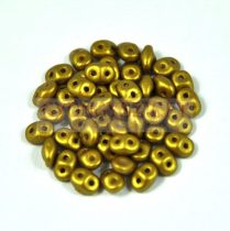 Superduo cseh préselt kétlyukú gyöngy - 2.5x5mm - olive gold