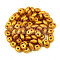 Superduo gyöngy 2.5x5mm - Brass Gold