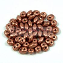 Superduo gyöngy 2.5x5mm - matt vörösréz