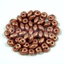 Superduo cseh préselt kétlyukú gyöngy - 2.5x5mm - Matte Copper