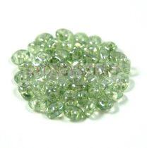 Superduo cseh préselt kétlyukú gyöngy - 2.5x5mm - crystal green luster