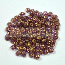 Superduo gyöngy 2.5x5mm - kristály-lila bronz lüszter