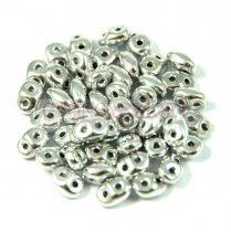 Superduo gyöngy 2.5x5mm - ezüst
