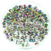 Superduo gyöngy 2.5x5mm - kristály vitrál