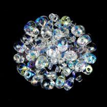Superduo gyöngy 2.5x5mm - kristály AB