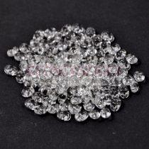 Superduo gyöngy 2.5x5mm - ezüst közepű kristály