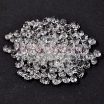 Superduo cseh préselt kétlyukú gyöngy - 2.5x5mm - silver lined crystal