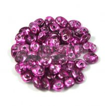 Superduo gyöngy 2.5x5mm - crystal metallic fuchsia