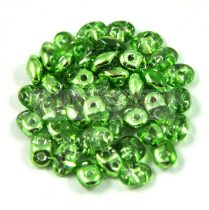 Superduo gyöngy 2.5x5mm - crystal metallic lime