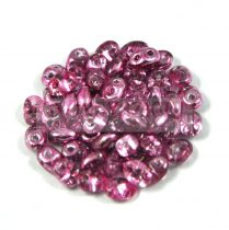 Superduo gyöngy 2.5x5mm - crystal metallic purple