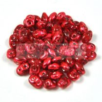 Superduo gyöngy 2.5x5mm - crystal metallic cherry