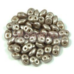 Superduo cseh préselt kétlyukú gyöngy - 2.5x5mm - pastel walnut
