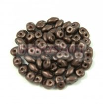 Superduo gyöngy 2.5x5mm - pastel chocolate