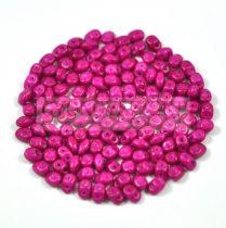 Superduo cseh préselt kétlyukú gyöngy - 2.5x5mm - fuchsia candy