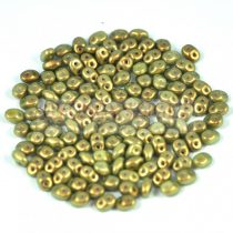 Superduo gyöngy 2.5x5mm - light olive golden shine