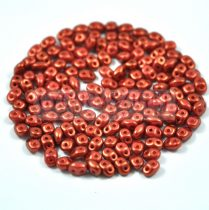 Superduo gyöngy 2.5x5mm - copper-brown golden shine