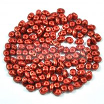 Superduo gyöngy 2.5x5mm - red-brown golden shine
