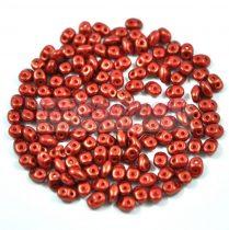 Superduo gyöngy 2.5x5mm - red-brown golden shine