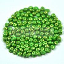 Superduo gyöngy 2.5x5mm - mint golden shine