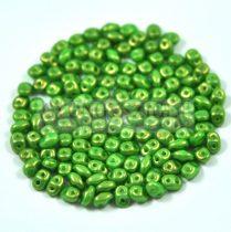 Superduo cseh préselt kétlyukú gyöngy - 2.5x5mm - Light Glue Golden Shine