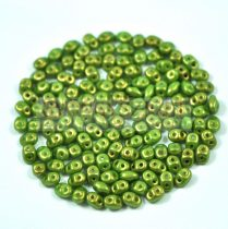 Superduo gyöngy 2.5x5mm - light mint golden shine