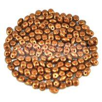 Superduo gyöngy 2.5x5mm - chocolate golden shine