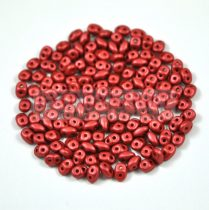 Superduo gyöngy 2.5x5mm - polichrome metallic red-brown