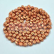 Superduo cseh préselt kétlyukú gyöngy - 2.5x5mm - polichrome metallic ancient gold