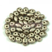 Superduo cseh préselt kétlyukú gyöngy - 2.5x5mm - polichrome metallic walnut