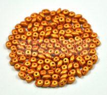 Superduo gyöngy 2.5x5mm - polichrome metallic terracotta