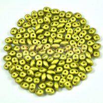 Superduo cseh préselt kétlyukú gyöngy - 2.5x5mm - polichrome metallic olive