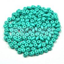 Superduo gyöngy 2.5x5mm - silk satin turquoise green