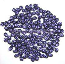 Superduo cseh préselt kétlyukú gyöngy - 2.5x5mm - pastel mid purple