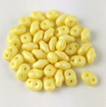 Superduo cseh préselt kétlyukú gyöngy - 2.5x5mm - luminous pastel yellow