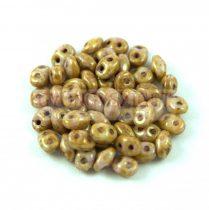 Superduo gyöngy 2.5x5mm - barna-lila bronz lüszter