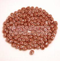 Superduo gyöngy 2.5x5mm - lüszteres csokoládé
