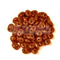 Superduo cseh préselt kétlyukú gyöngy - 2.5x5mm - opaque chocolate