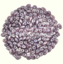 Superduo gyöngy 2.5x5mm - matt opál ametiszt
