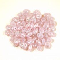 Superduo gyöngy 2.5x5mm - opál halvány lila lüszter