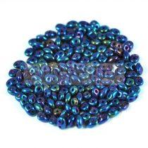 Superduo gyöngy 2.5x5mm - Metallic Blue Iris