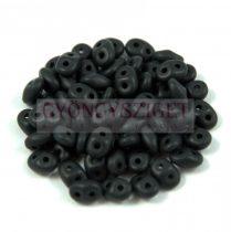 Superduo gyöngy 2.5x5mm - matt fekete