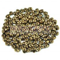 Superduo gyöngy 2.5x5mm - Golden Bronze
