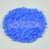Superduo cseh préselt kétlyukú gyöngy - 2.5x5mm - light blue