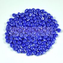 Superduo cseh préselt kétlyukú gyöngy - 2.5x5mm - sapphire luster
